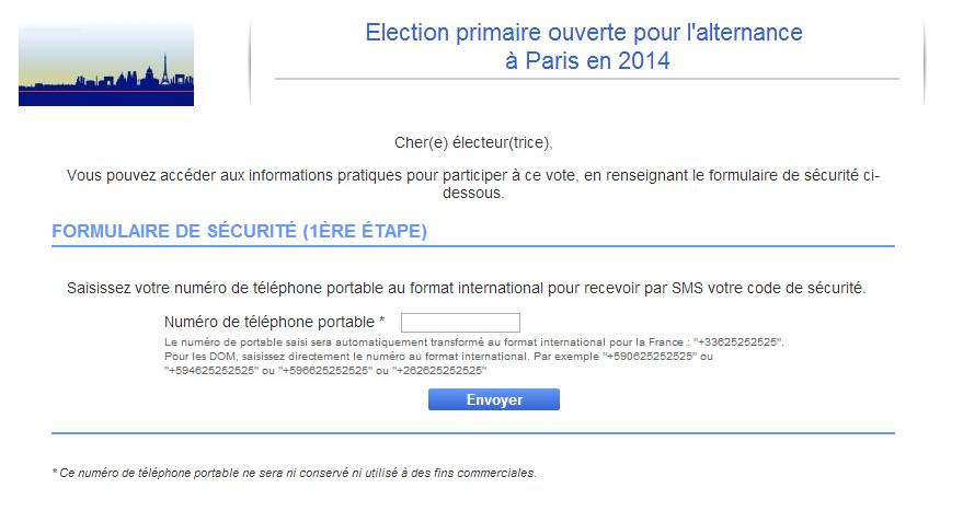 Primaire à Paris par vote électronique
