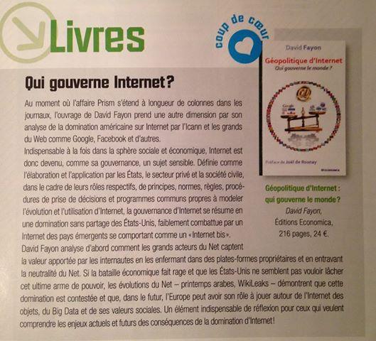 Géopolitique d'Internet dans L'Informaticien