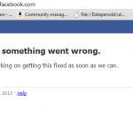 Facebook est tombé
