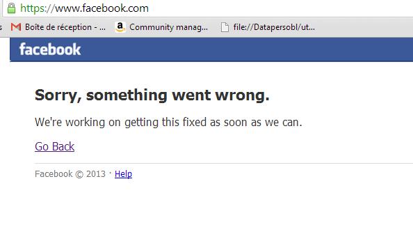 Facebook hors service pendant 30 minutes le 19 juin 2014