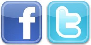 Logos Facebook et Twitter