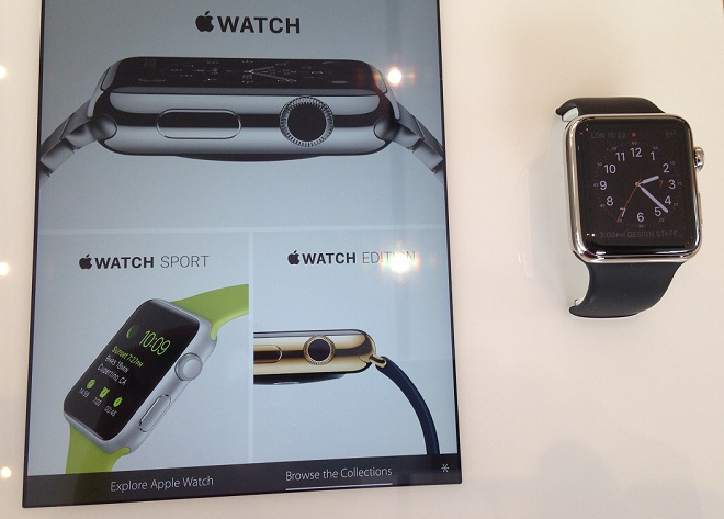 L'Apple Watch en vitrine
