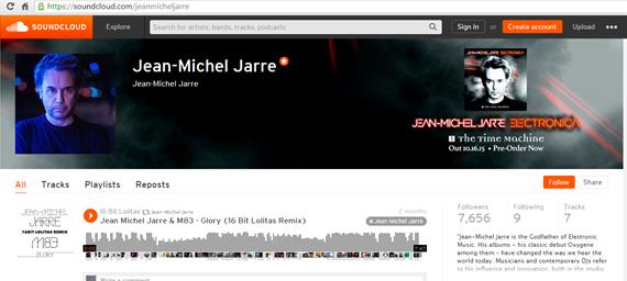 Page officielle de Jean-Michel Jarre