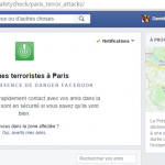 Signalement de l'absence de danger sur Facebook