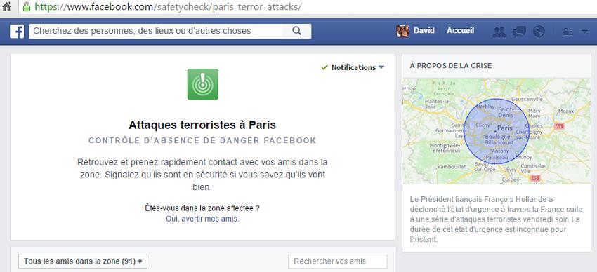 Facebook et sa nouvelle fonction pour rassurer les amis en cas de catastrophe