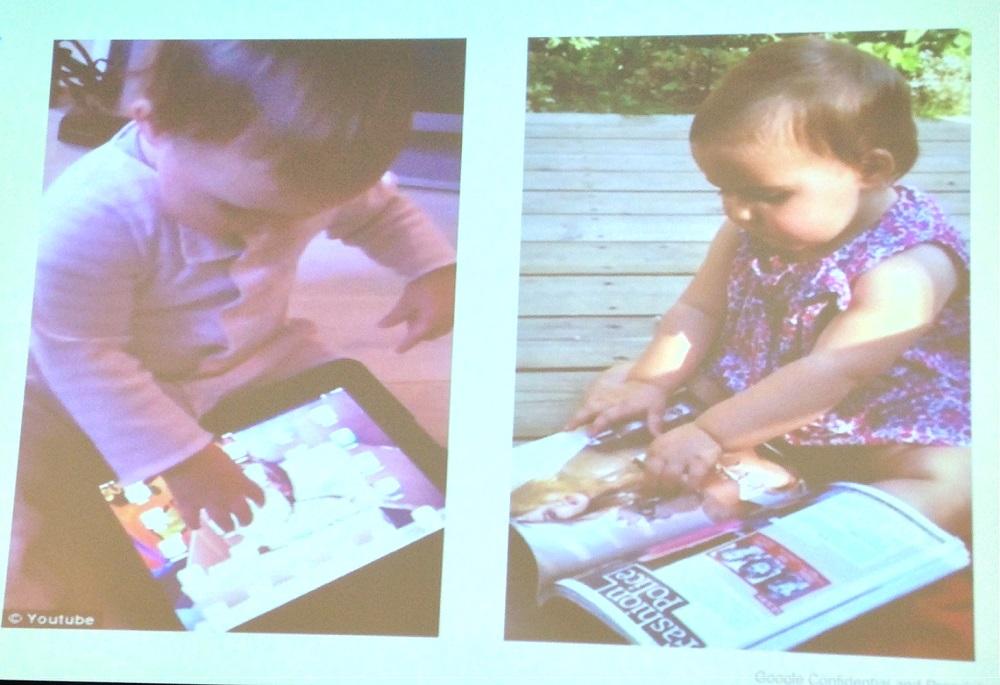 La génération Z et les bébés face au livre vs tablette