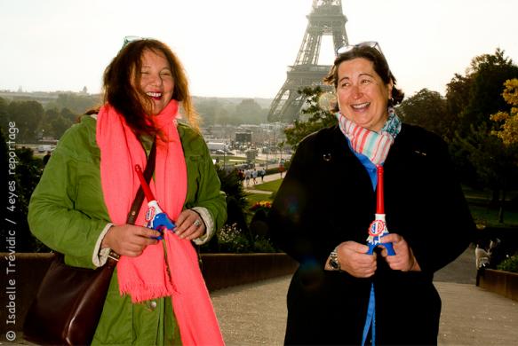 Nathalie Crouzet à droite et Mathilde Bohrmann à gauche, co-fondatrices de Bring France Home