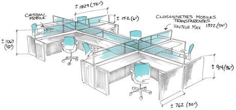 une vision du bureau de travail