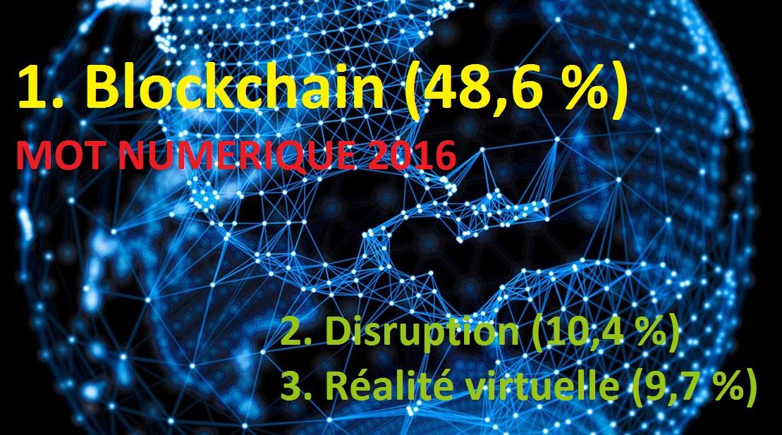 Blockchain élu mot numérique 2016