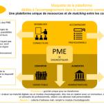 Maquette de la plateforme dédiée à l'accompagnement dans le commerce connecté des PME