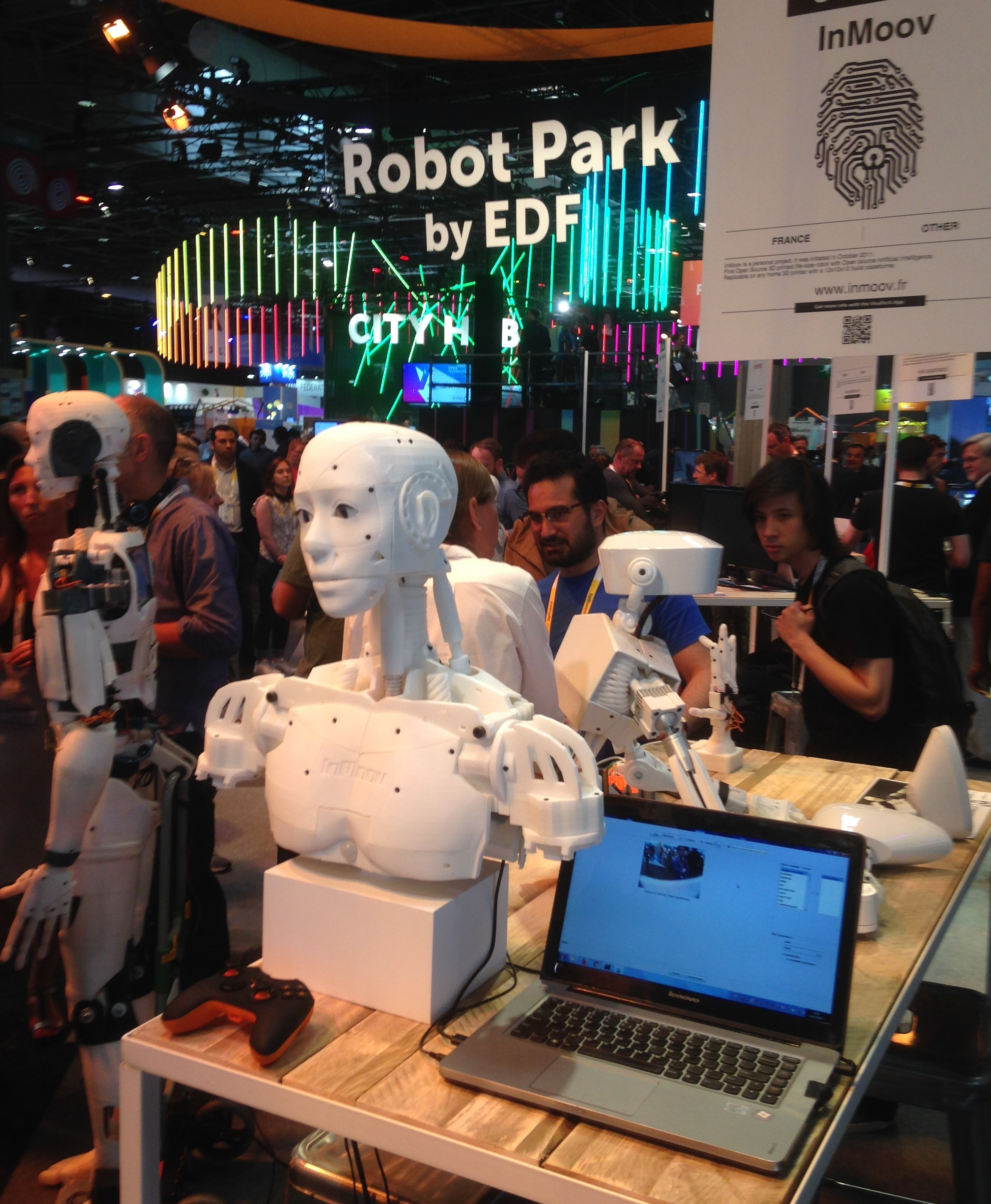 La robotique présente à vivatech au même titre que la réalité virtuelle, les drones, la blockchain
