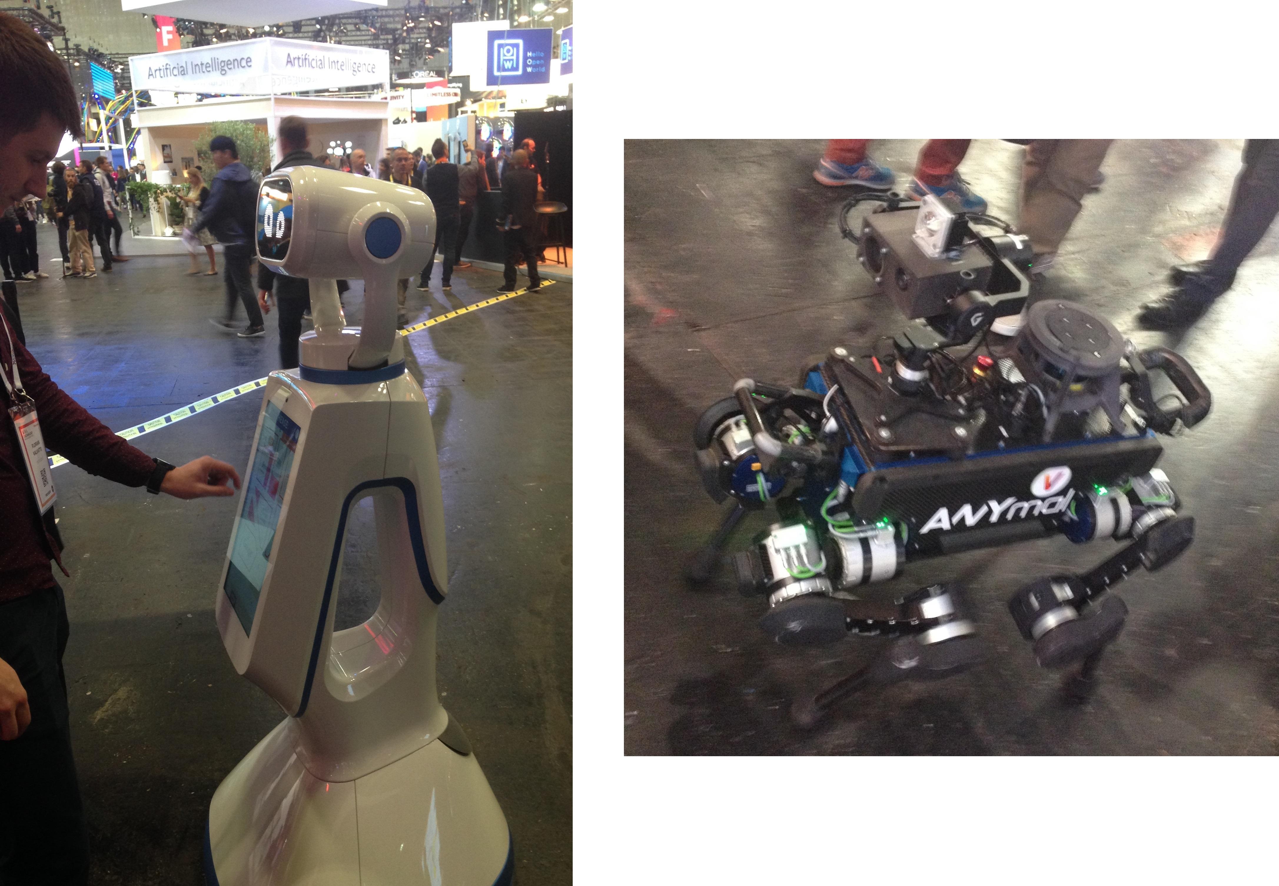 Les robots, attractions des allées à VivaTech