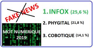 Infox (fake news) élu mot numérique 2019