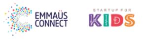 Associations bénéficiaires Emmaüs Connect et Start-up for kids