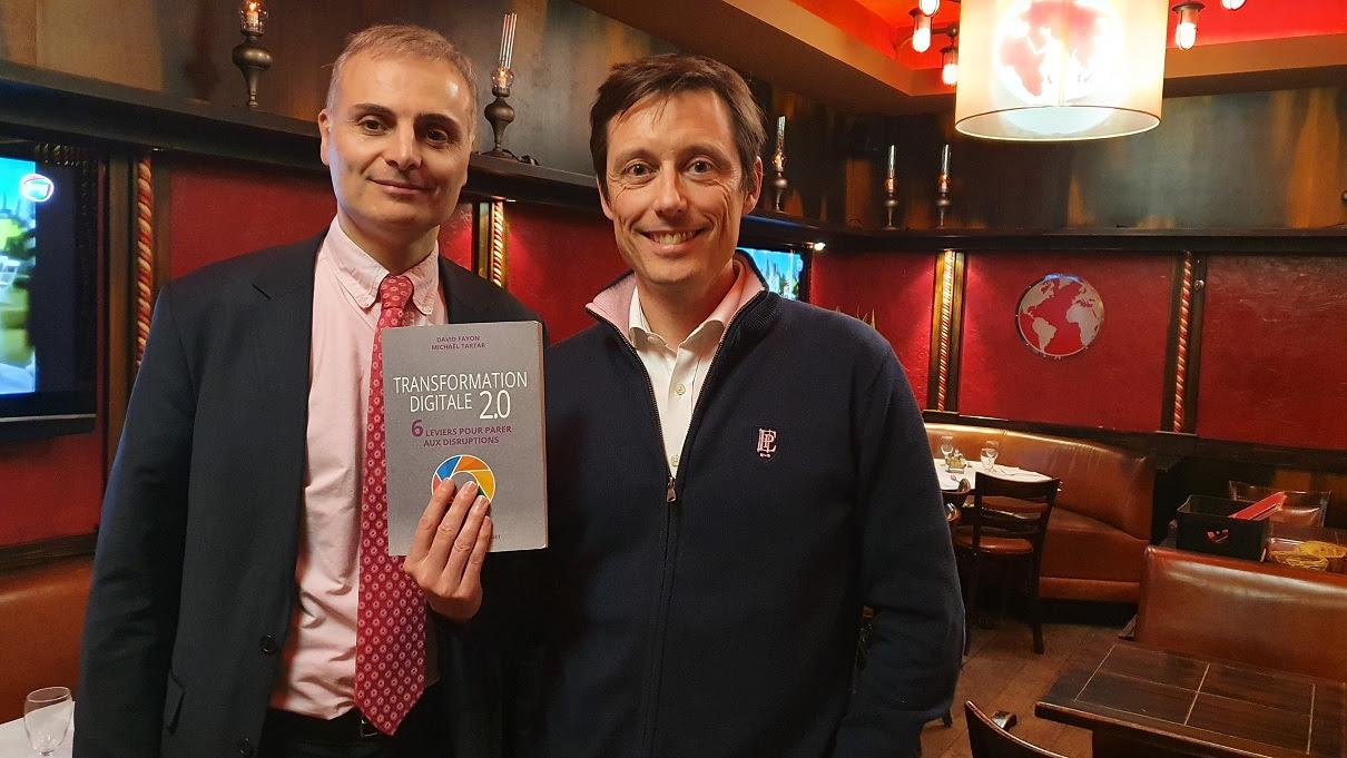 D. Fayon et M. Tartar avec le livre Transformation digitale 2.0