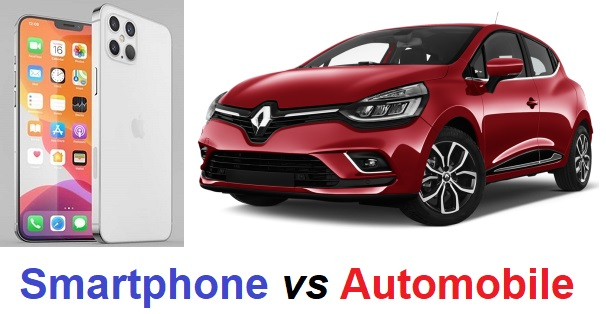 smartphone vs automobile