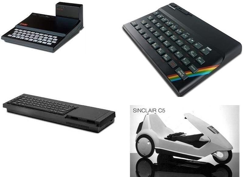 Des produits créés par Clive Sinclair, du ZX 81 à la C5